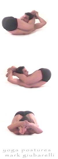 Yoganidrasana yogic sleep pose