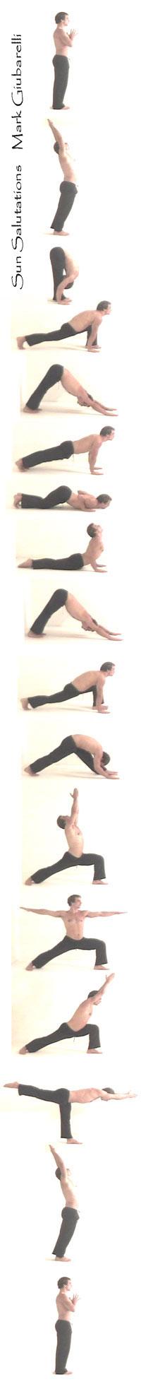 flowing yoga pose