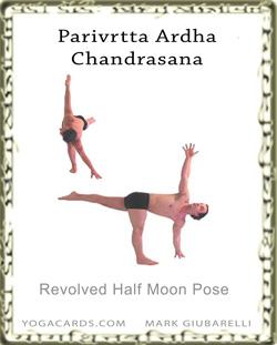 reverse half moon pose  parivrtta ardha chandrasana yoga